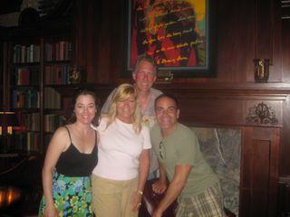 Roseann (D's sister), husband Keith, me and Darin