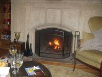 cozy fire in Darin's apt