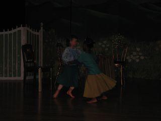 Zuzu dancing in show